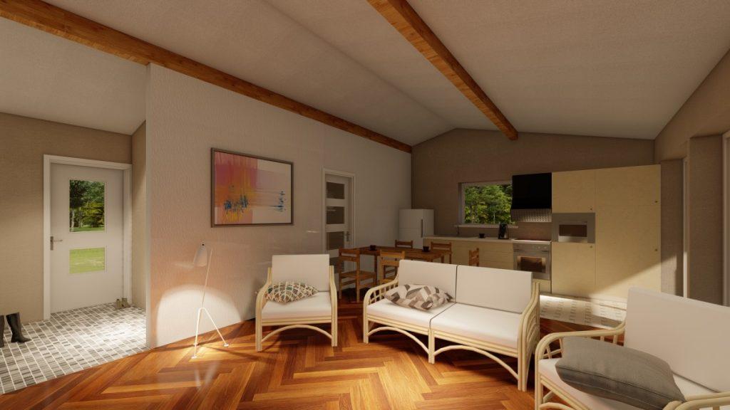 koka paneļu māja 62m2, panelhaus.lv