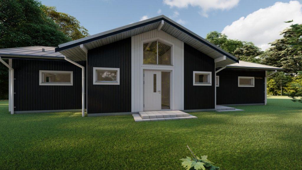 Eko koka paneļu māja 145 m2