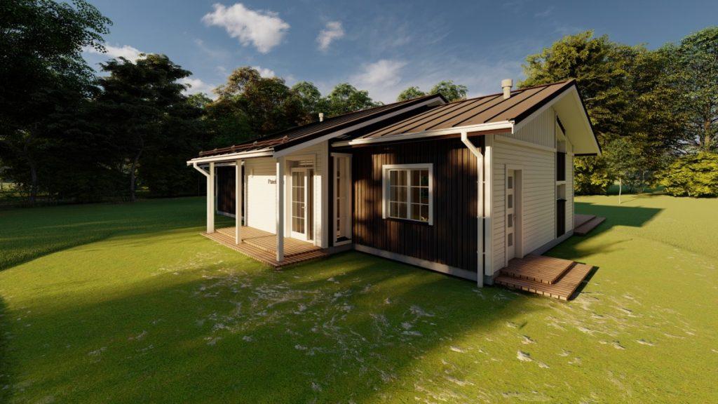 Ekoloģiska koka paneļu māja 132 m2